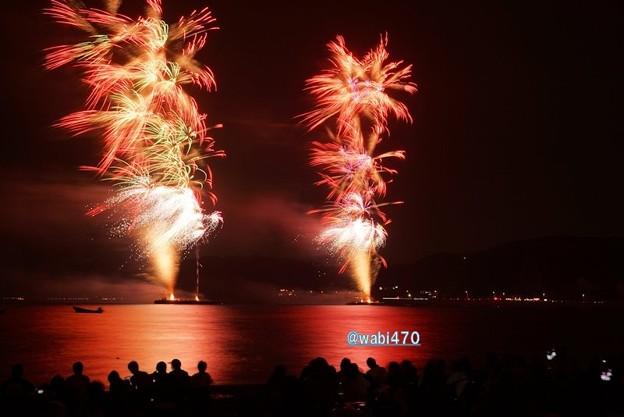 写真: 海岸の花火大会、逗子4!130601