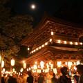 Photos: 三門に月!130817