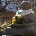 写真: 花想い地蔵!140101