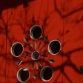 写真: 梅模様の扉!140118