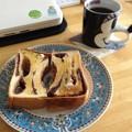 写真: 今朝もあん食パン