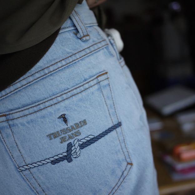 トラサルディのジーンズも