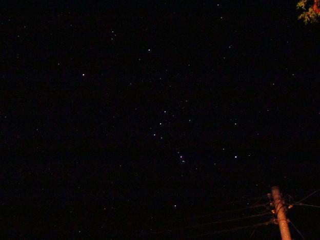 深夜のオリオン座