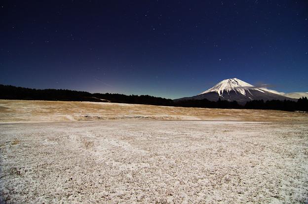 クリスマスイブの富士山