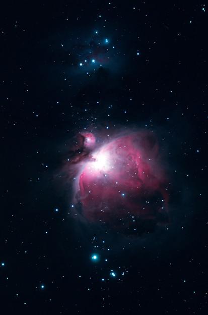 写真: オリオン大星雲とランニングマン星雲