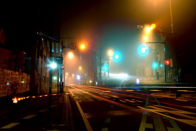 夜霧の橋本市