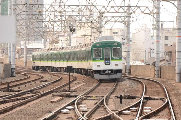 京阪1500系準急出町柳行き