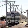 Photos: 充電装置設置工事中の烏山駅  キハ40 1009