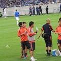 Photos: 水を飲む日本代表の皆さん。