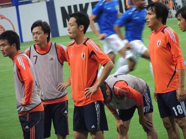 Photos: 順番待ちしてる日本代表の皆さん。