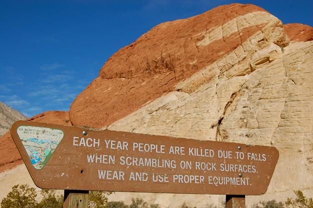 Redo Rock Canyon warning