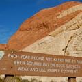Photos: Redo Rock Canyon warning