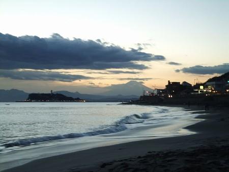 七里ヶ浜から江の島&富士7