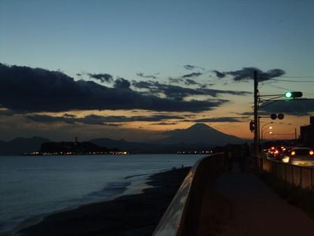 江の島夕景with富士8