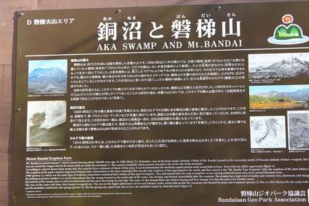 銅沼と磐梯山説明13-6