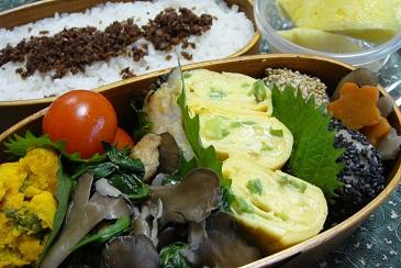 弁当 舞茸と小松菜と油揚げの煮物