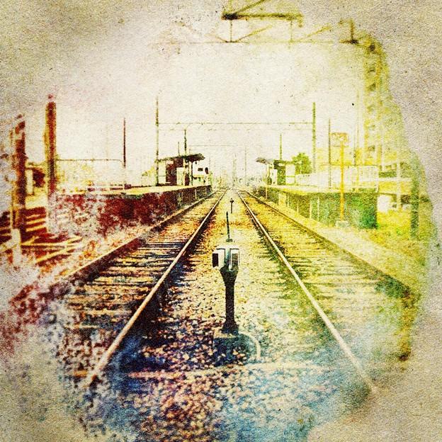 写真: レトロ線路
