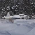 T-33 雪に埋もれて