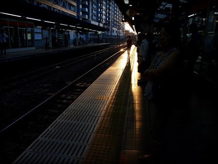 写真: 長い影