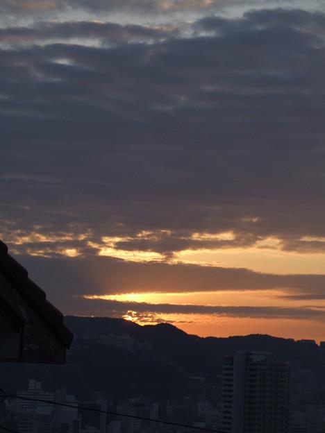 今朝の日の出