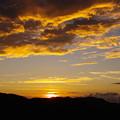 Photos: 文珠山の夕陽