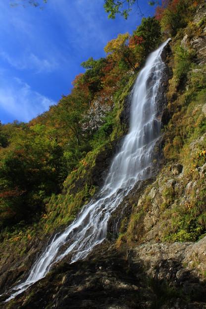 Photos: 色づく名勝名瀑天滝(兵庫県養父市)