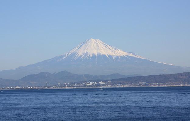 快晴の富士山