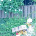 Photos: 紫陽花と黄色いバイク
