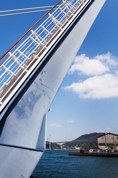 跳ね橋と関門海峡