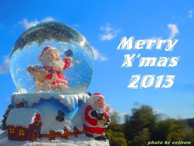 """キラキラ青空サンタさん """"Happy Merry X'mas 2013 !!!"""""""