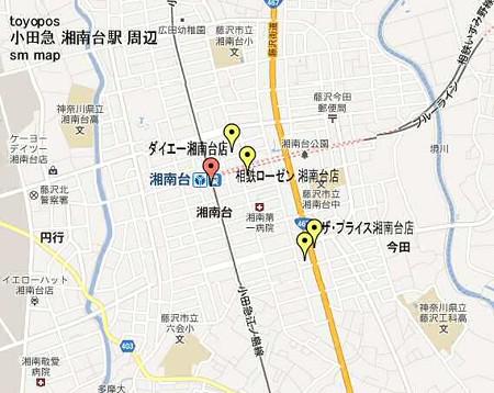 小田急 湘南台駅 sm map-250328