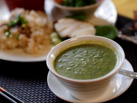 ほうれん草スープ4