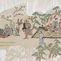 上野花見の躰 九 菱川師宣