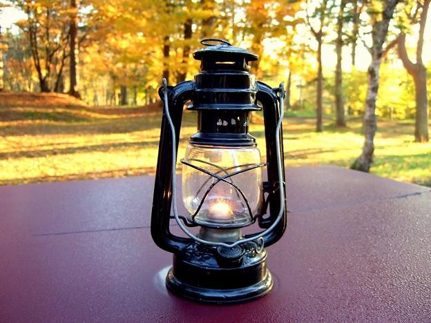 風流キャンプ 灯油ランプ