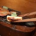 Photos: 燗銅壺と焼きネギ