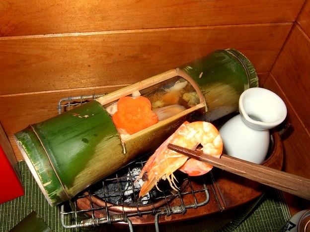 竹筒料理 燗銅壺で寄せ鍋