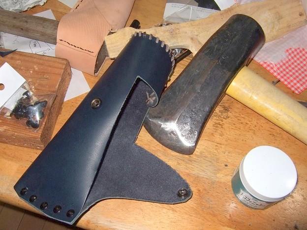 斧 革カバー製作 2