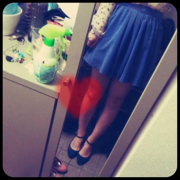 青いスカートって持ってなか...