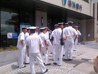 横須賀教育隊「史跡研修」。