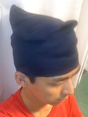 烏帽子を着用。