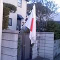 祝日には国旗を2。