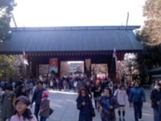 本日の靖国神社。
