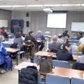 写真: 福祉講演会「災害と障がい者」。