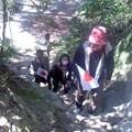 日の丸観光ツアー、登攀中。