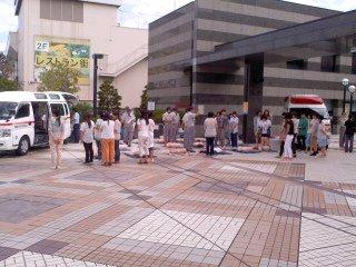 救急フェア会場(鎌倉芸術館、9月9日)