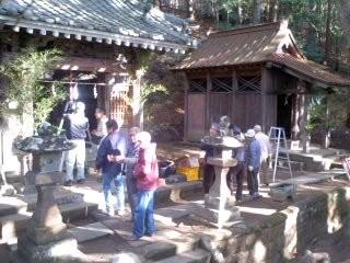 正月準備(12月30日、大船熊野神社)