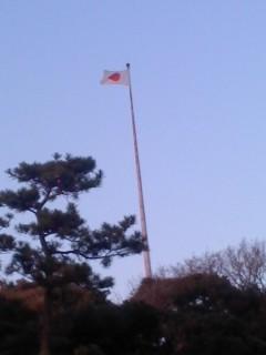 国旗(1月31日、横須賀教育隊)