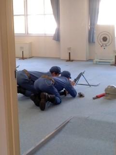 小火器射前教育(2月1日、横須賀教育隊)