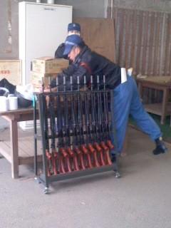 小火器射撃用意(2月2日、予備自衛官訓練)