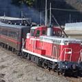 写真: SLもおか号運行再開に向けて、DE10による50系客車の試運転が行われました。@真岡鐵道 市塙-笹原田 2014/01/19